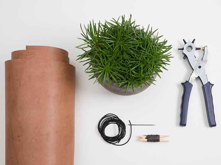 Wieszak na doniczkę DIY - krok 1