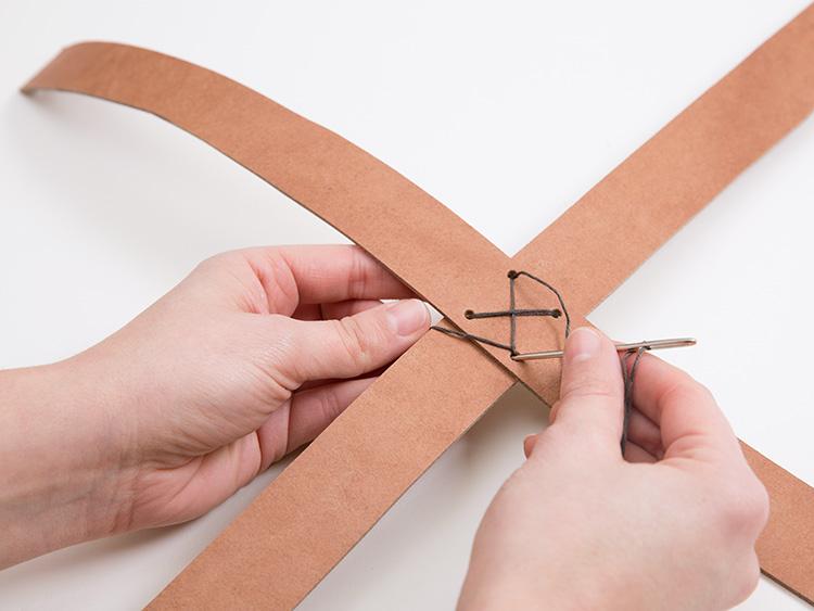 Zawieszka na doniczkę tutorial DIY - zszywanie