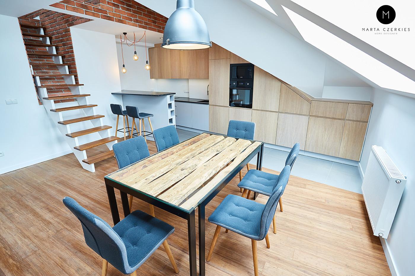 mieszkanie loft industrialne