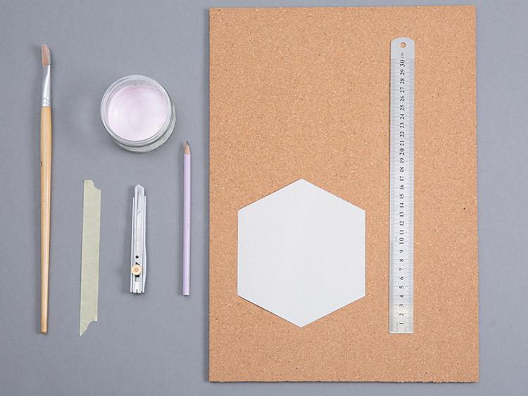 Materiały potrzebne do zrobienia tablicy korkowej DIY