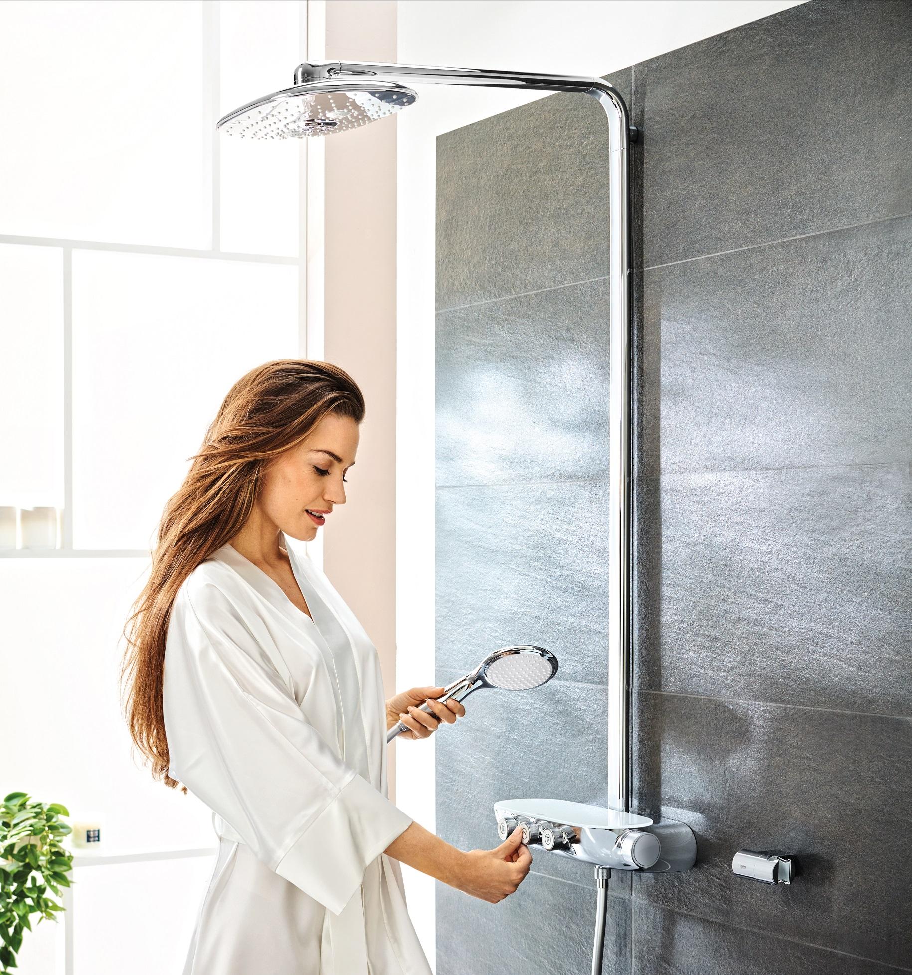 system prysznicowy z deszczownicą