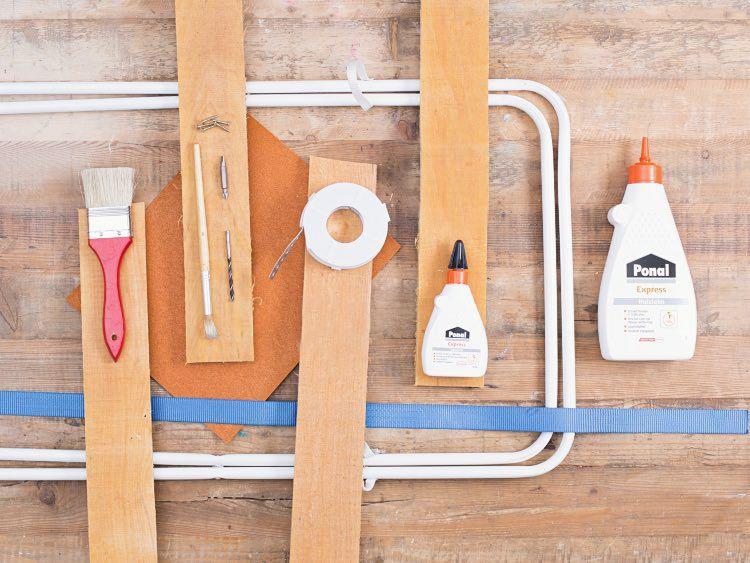 Materiały potrzebne do zrobienia stolika z palet i kosza na pranie - DIY