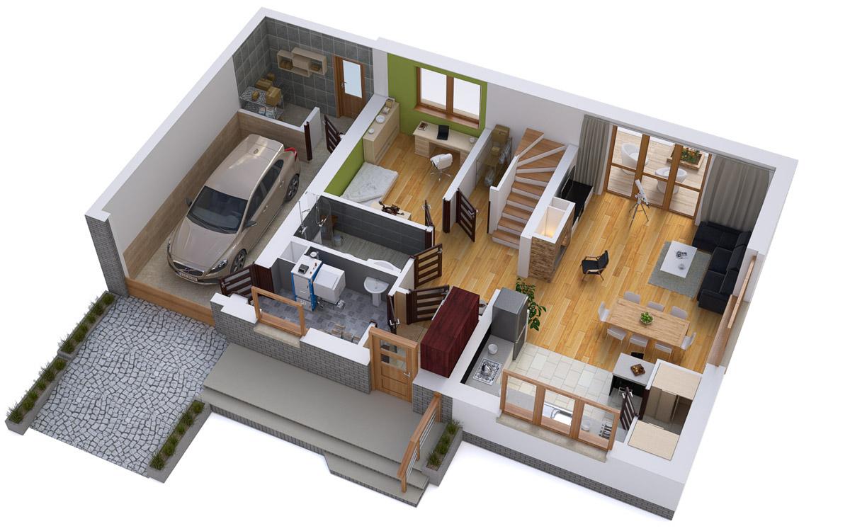 dom funkcjonalny projekt