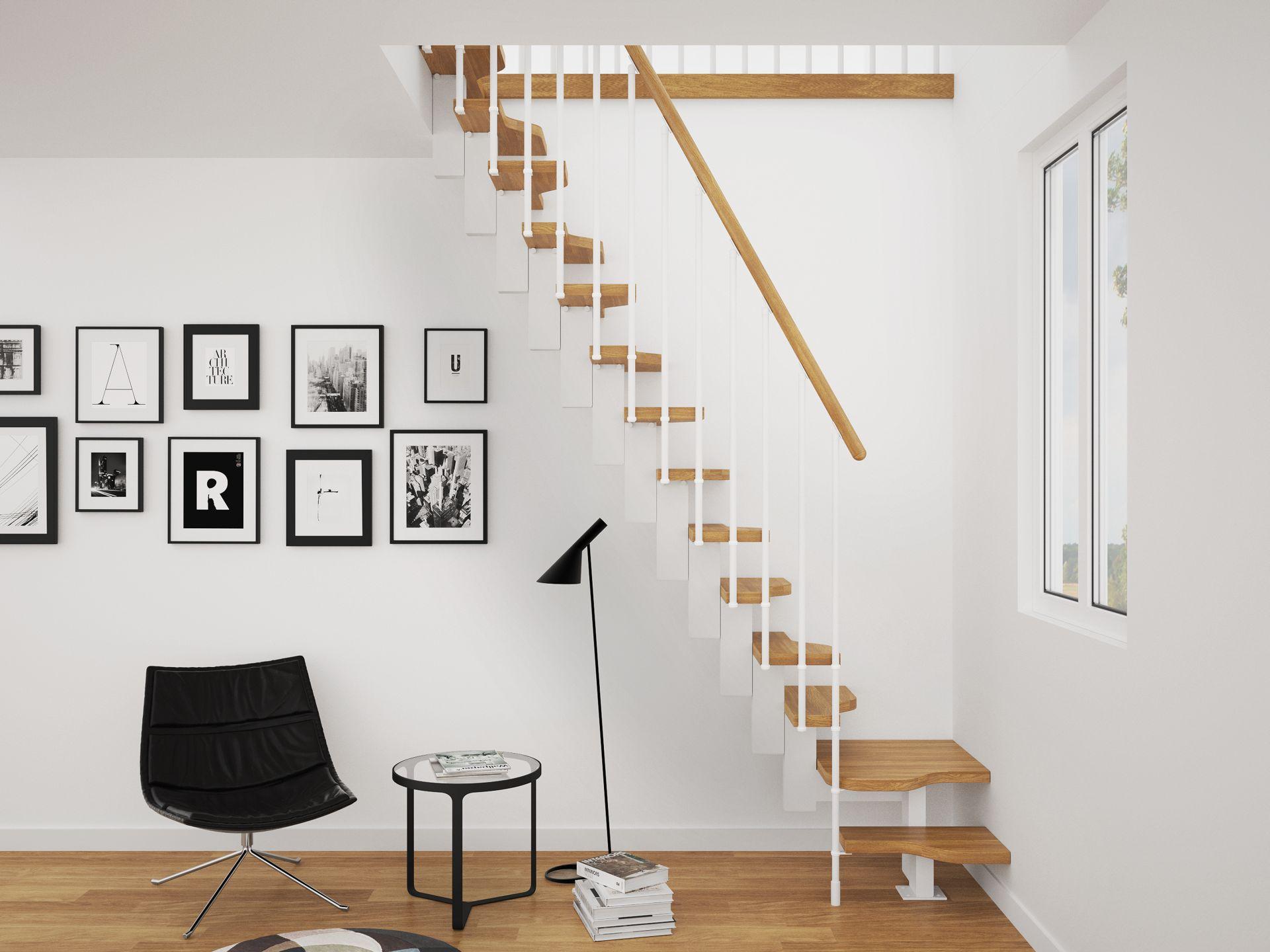 schody w stylu skandynawskim, stopnie kacze