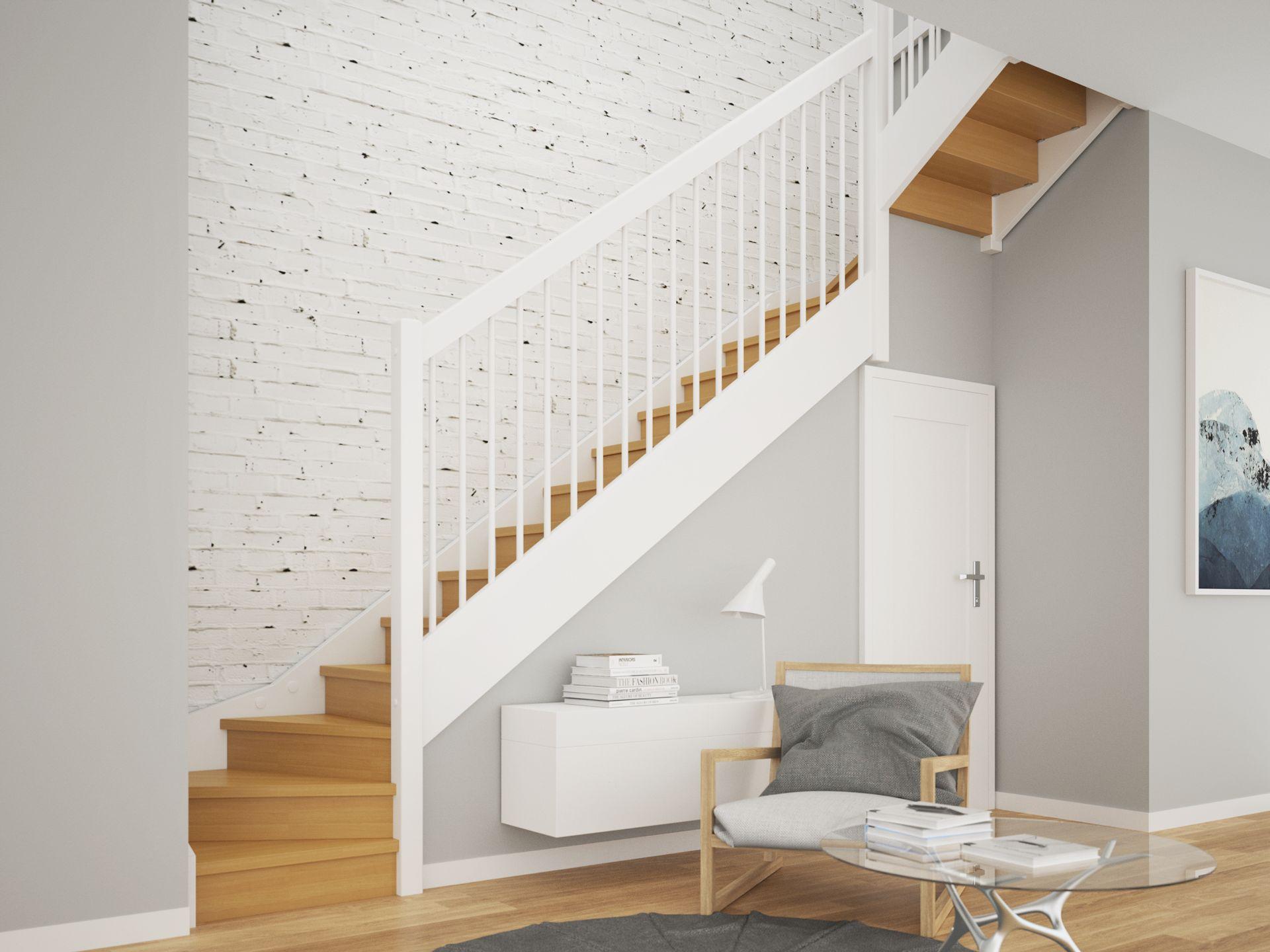 schody w stylu skandynawskim