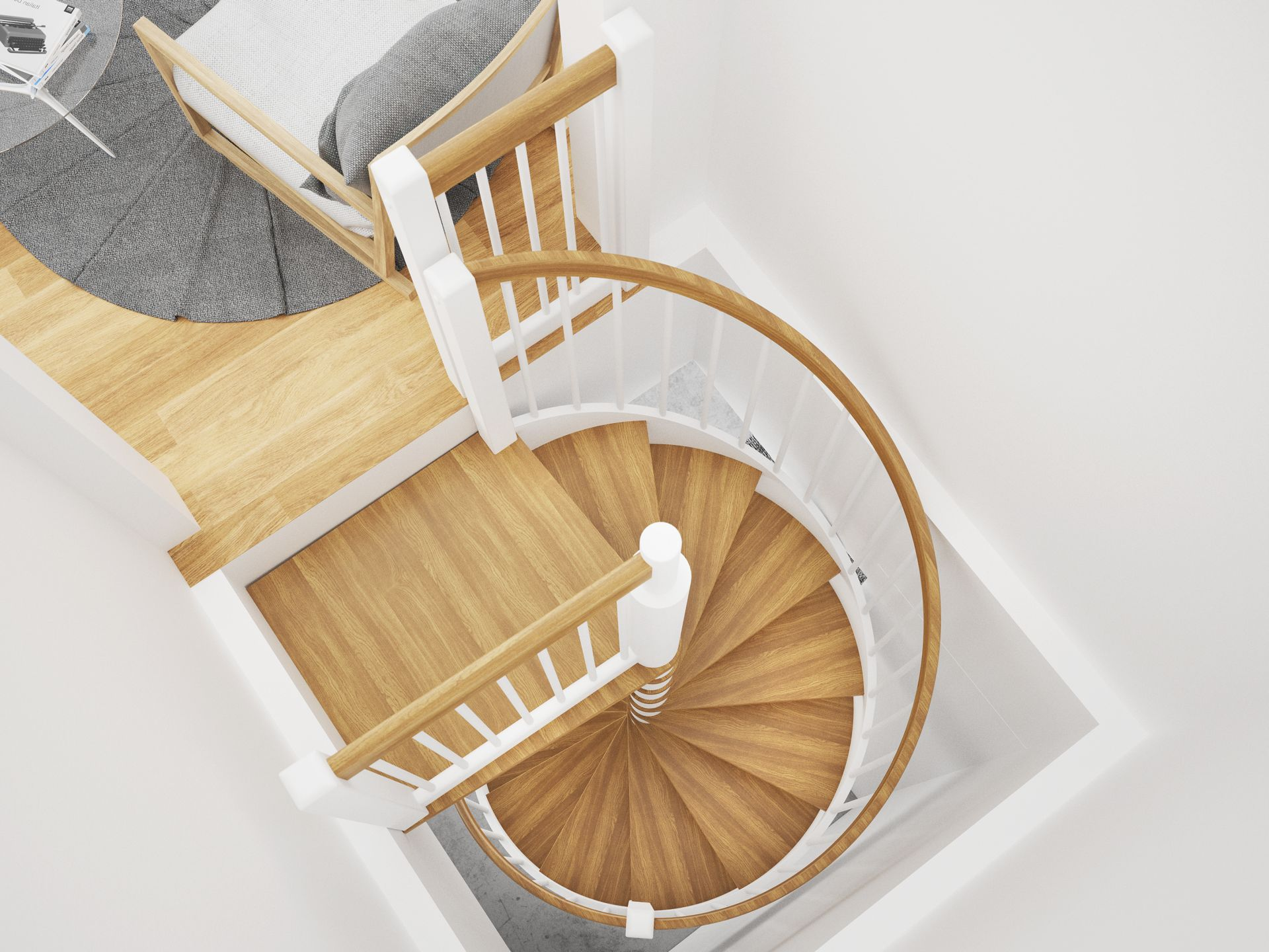 schody skandynawskie, schody spiralne