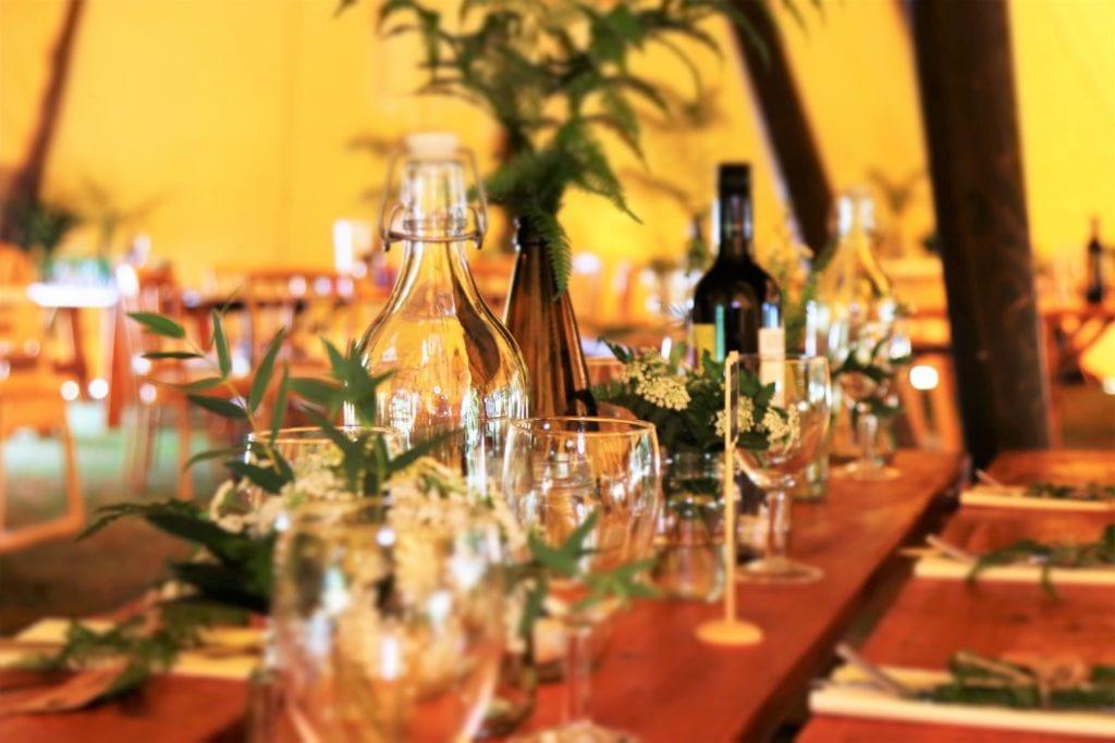 dekoracje na stół na imprezie sylwestrowej