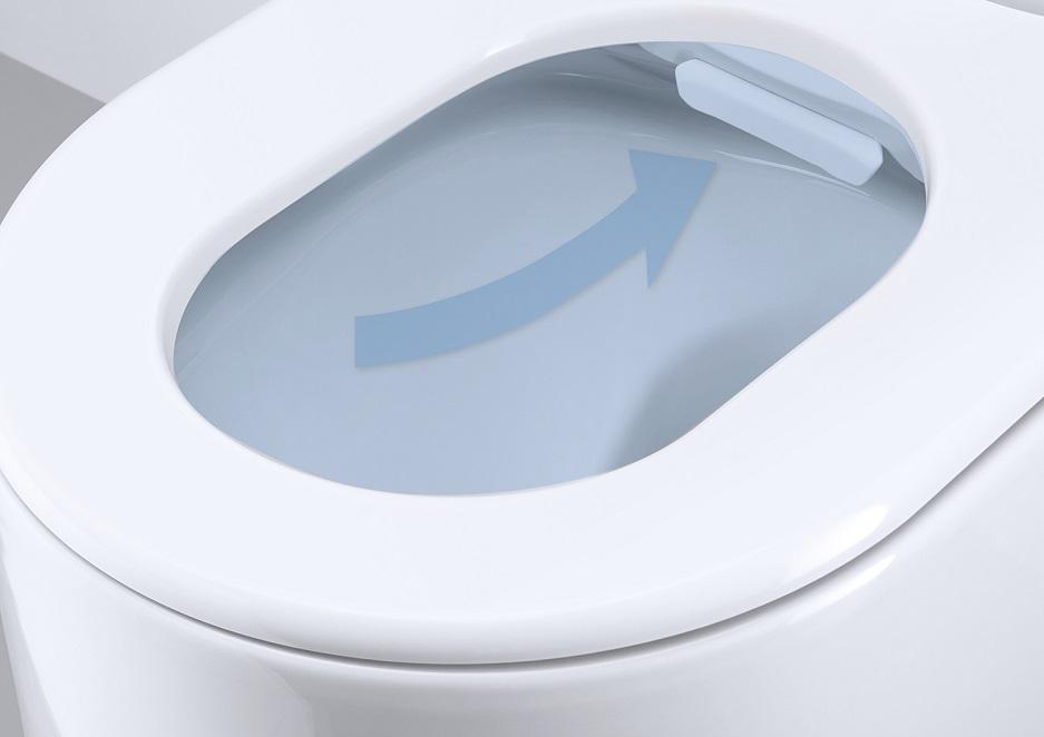 toaleta myjąca podświetlona