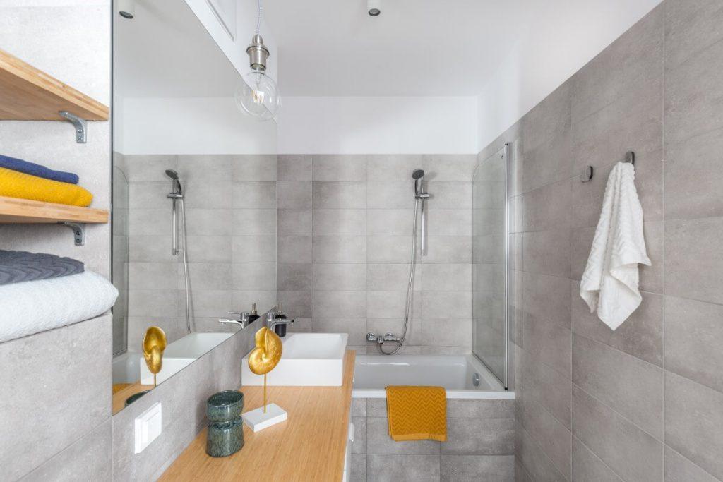 łazienka - szare wnętrze