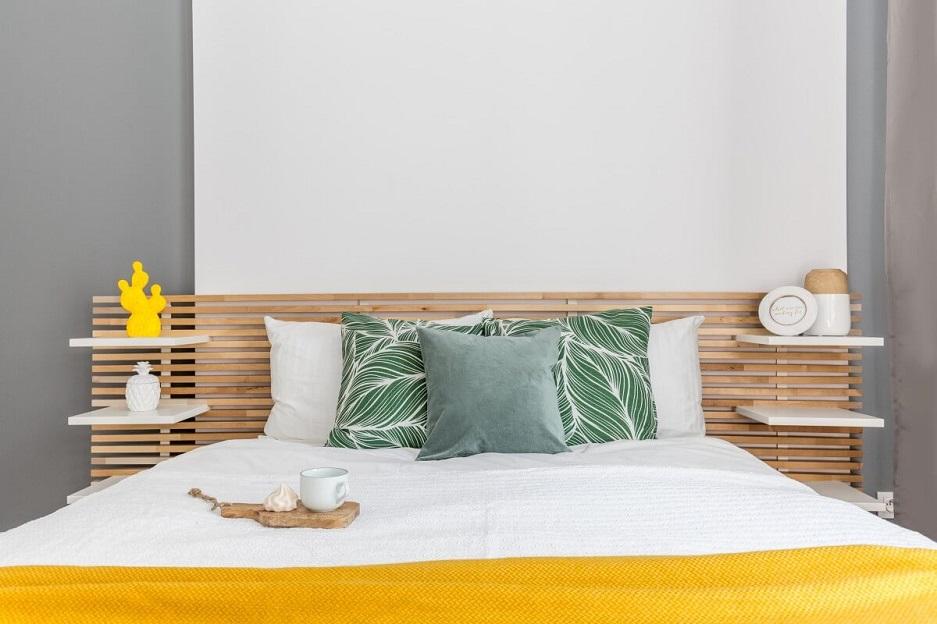 Szare wnętrza - sypialnia
