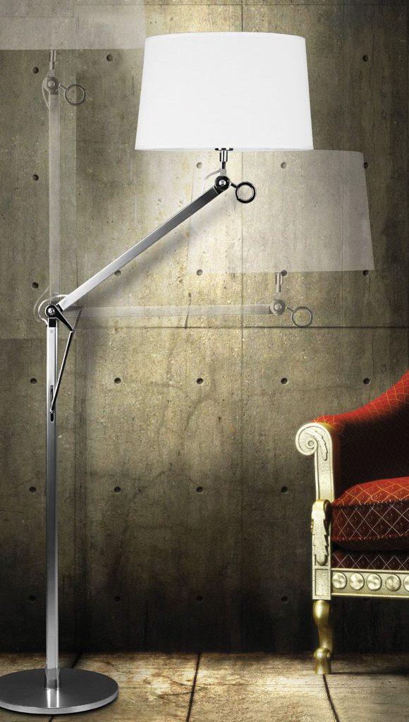 oświetlenie do salonu - lampa podłogowa rustykalna
