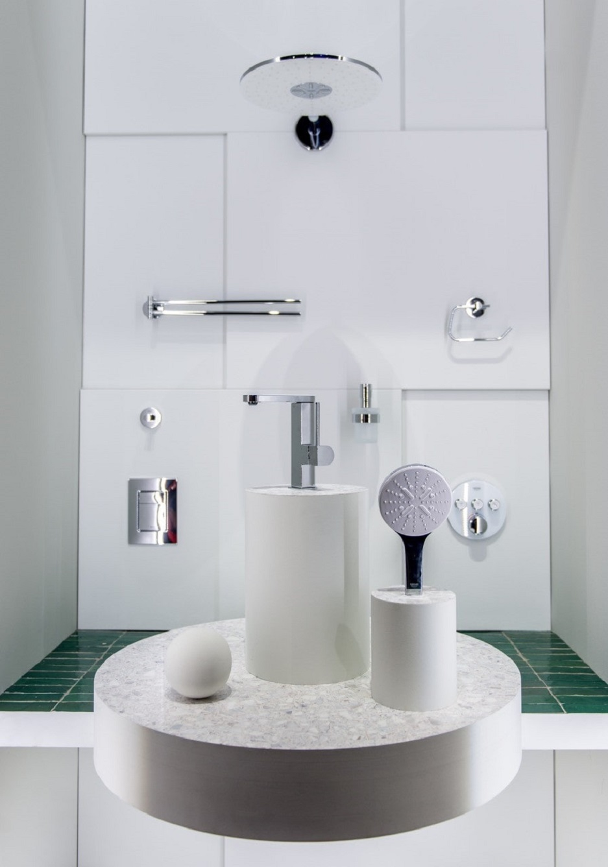 bateria łazienkowa do białej łazienki