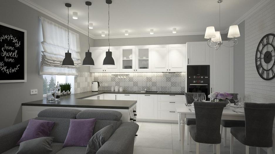 aneks kuchenny w mieszkaniu w stylu prowansalskim