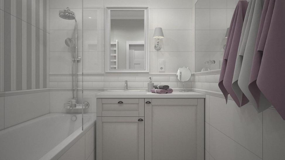 mieszkanie w kamienicy w stylu prowansalskim - mała łazienka