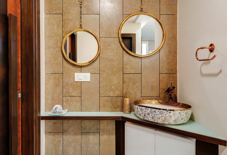 retro łazienka z umywalką