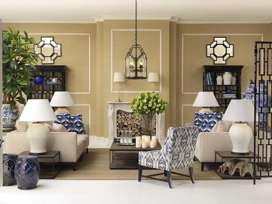 jasny salon w eleganckim stylu