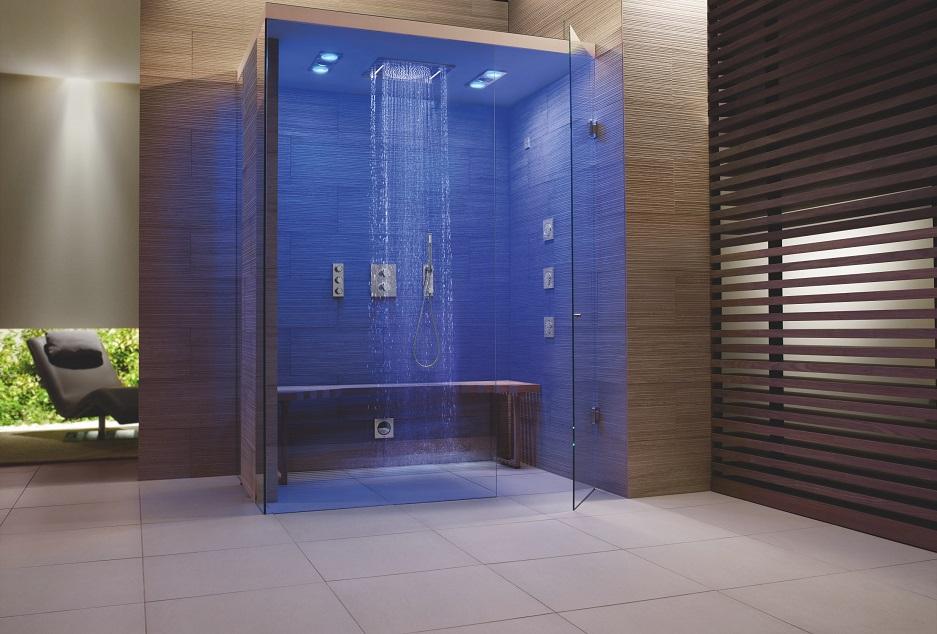 pokój kąpielowy - prysznice boczne w GROHE Rainshower F-series