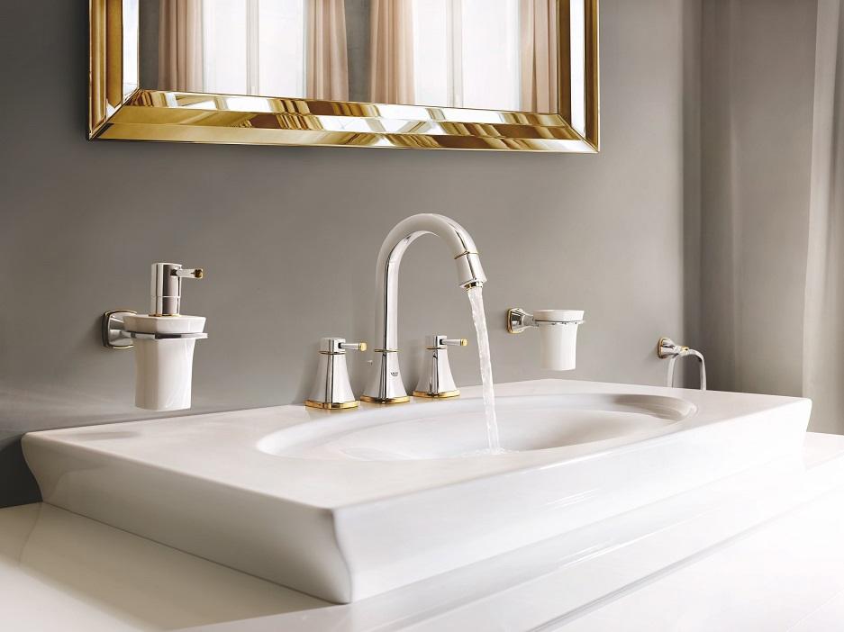 łazienka w eleganckim i szykownym stylu glamour