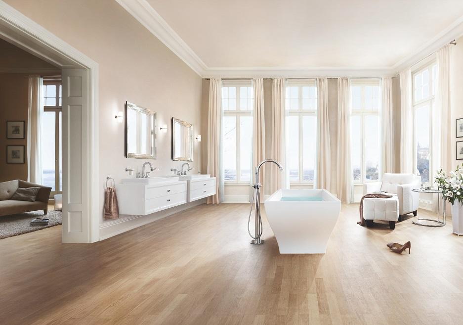 pokój kąpielowy w stylu glamour