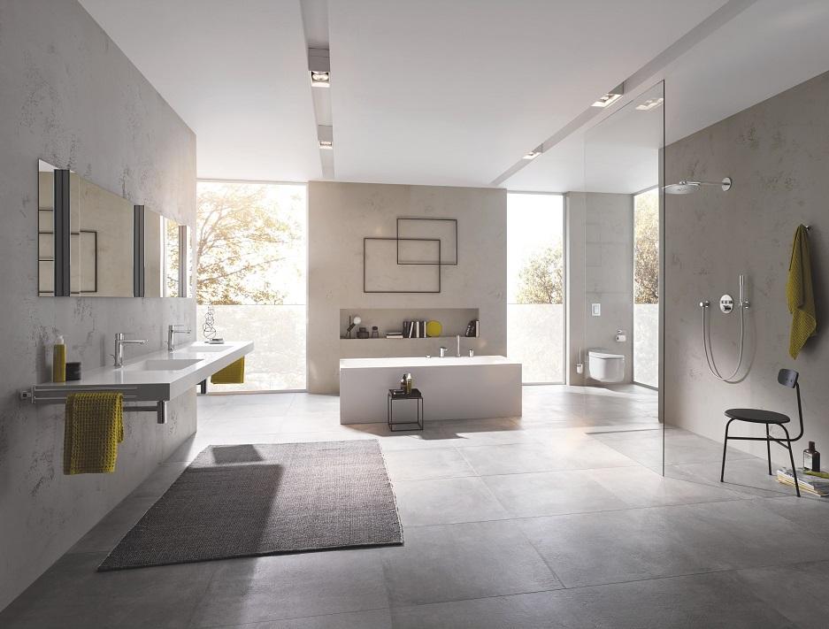 styl minimalistyczny w pokoju kąpielowym