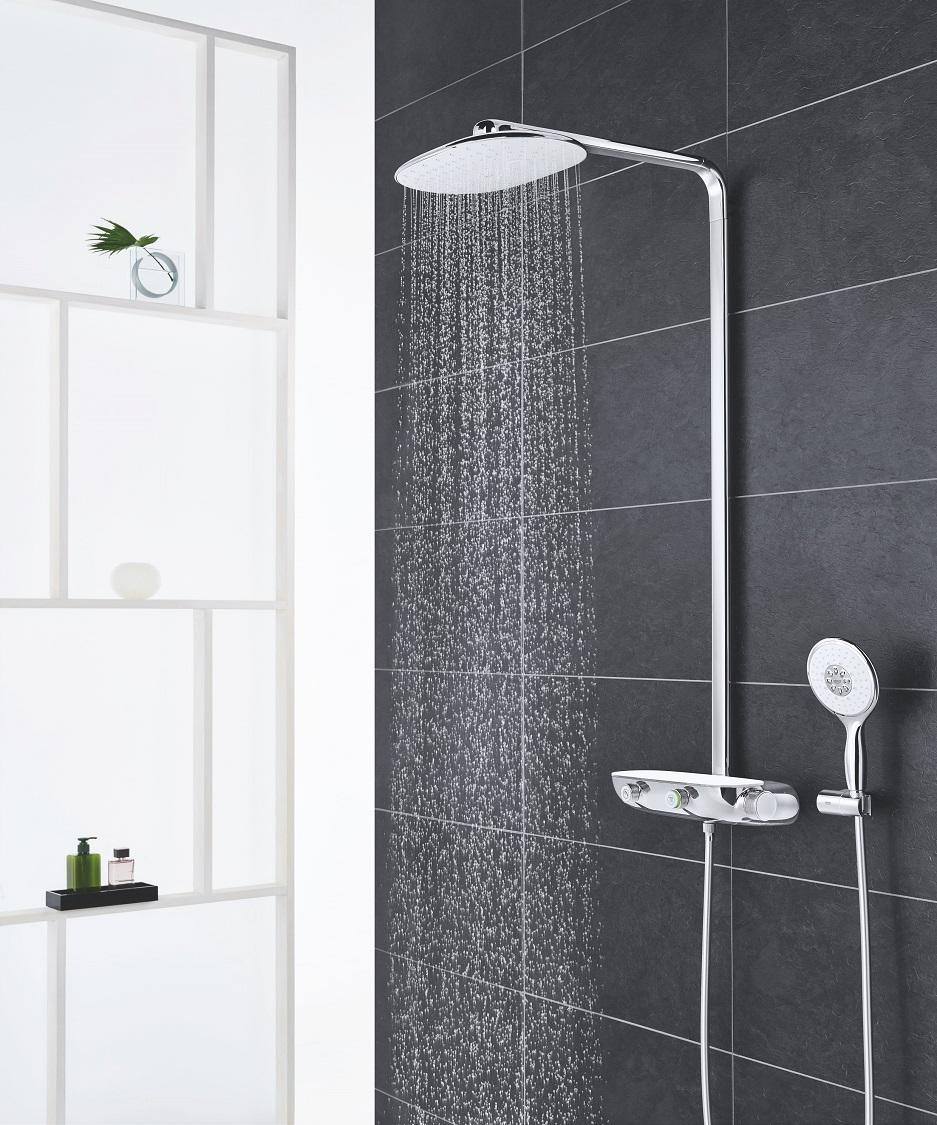 pokój kąpielowy a w nim grohe smart control