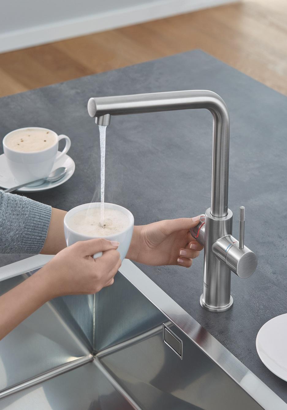 systemy kuchenne z kontrolą temperatury wody