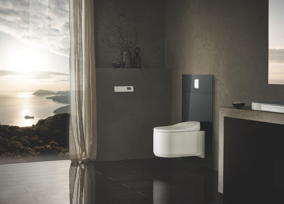 nowoczesna toaleta myjąca