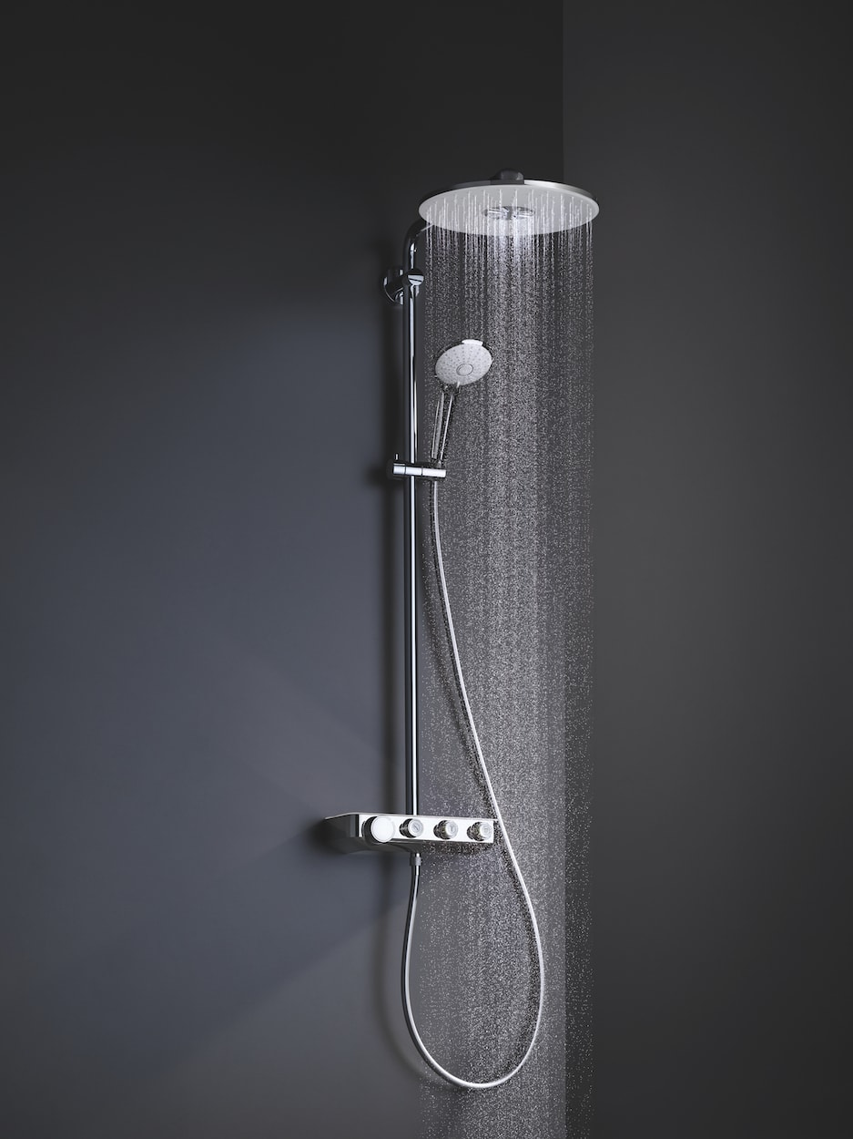 deszczownica i słuchawka prysznicowa