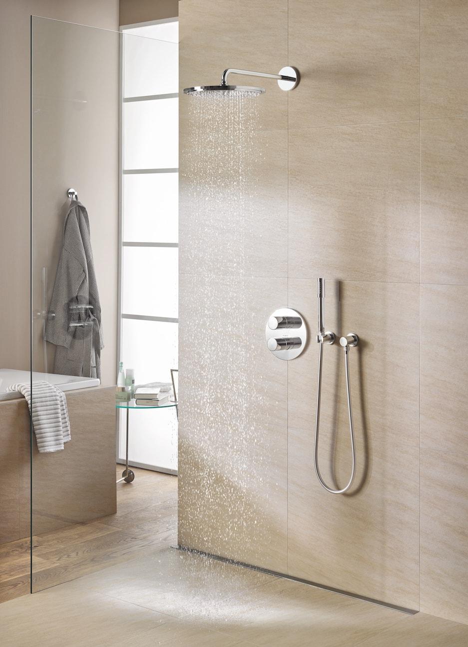 nowoczesny zestaw prysznicowy