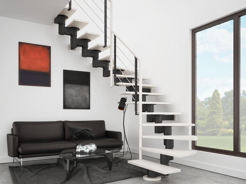 tanie schody do nowoczesnego salonu