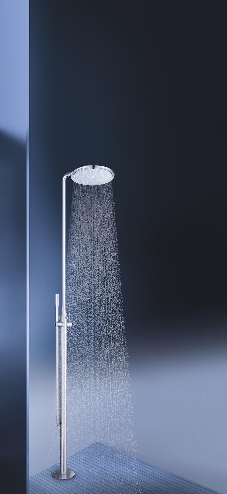 wolnostojący system prysznicowy