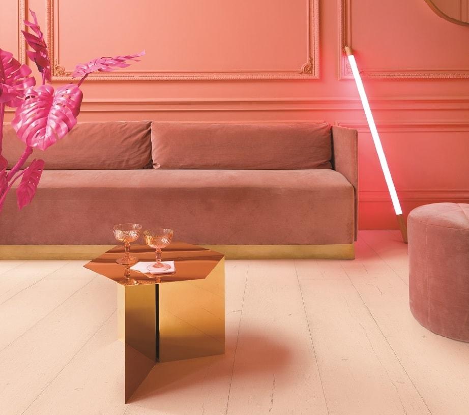 Różowe panele laminowane