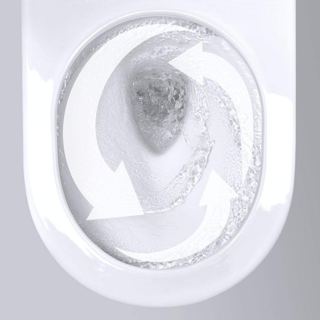 toaleta triple vortex